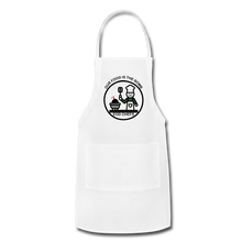 Food is the bomb Apron by Mikaela Narvaez - white