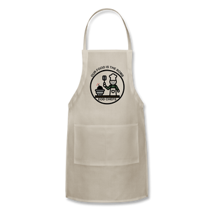 Food is the bomb Apron by Mikaela Narvaez - natural