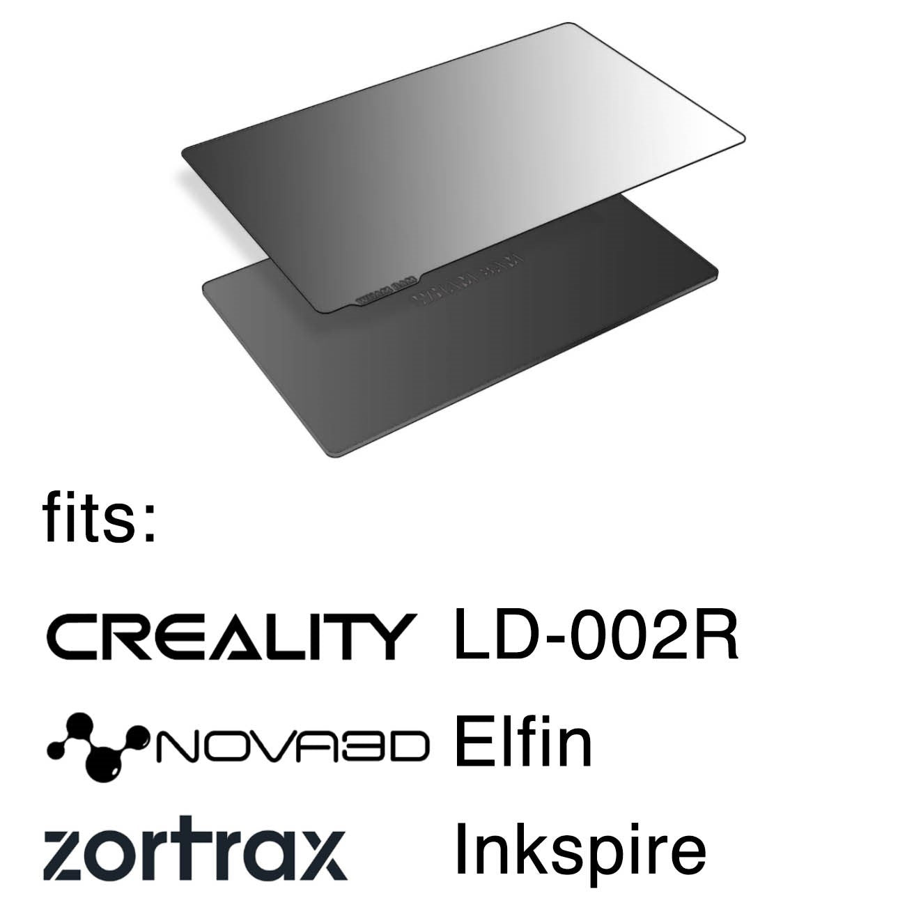 Creality Flexible Steel Plate and Magnet Sticker Compatible with LD-002R Resin 3D Printer 138 x 78 x 0.4 mm 2 Sets
