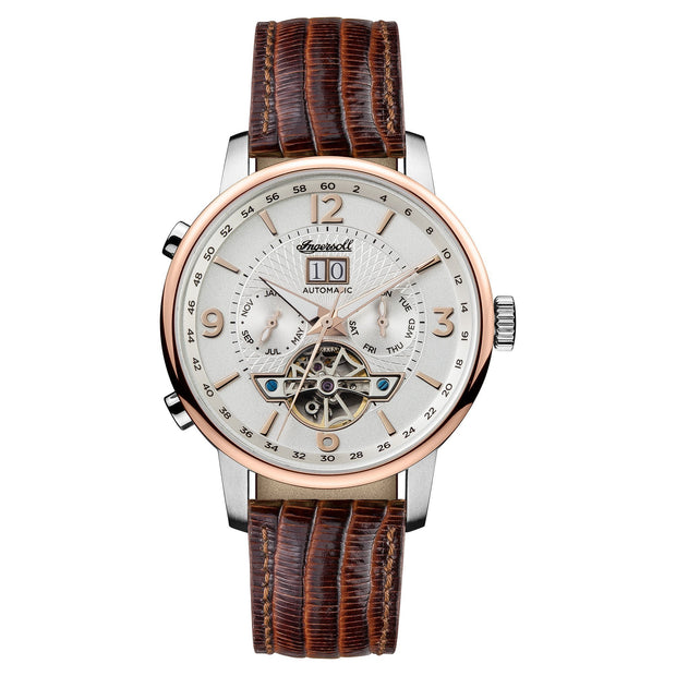 Ingersoll Grafton Automatic Brown Watch-COCOMI Australia