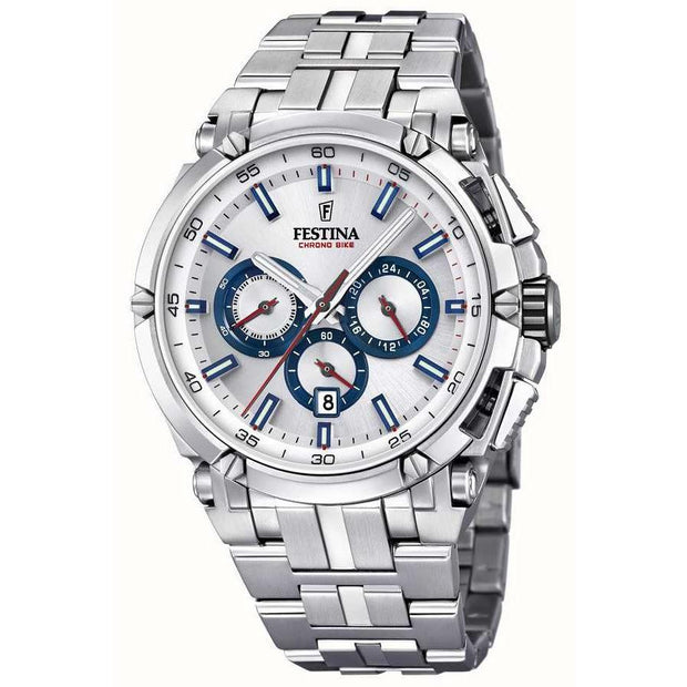 Festina Chrono Bike Silver Watch-COCOMI Australia