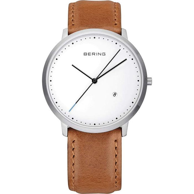 Bering Classic white 39 mm unisex Watch (11139-504)-COCOMI Australia