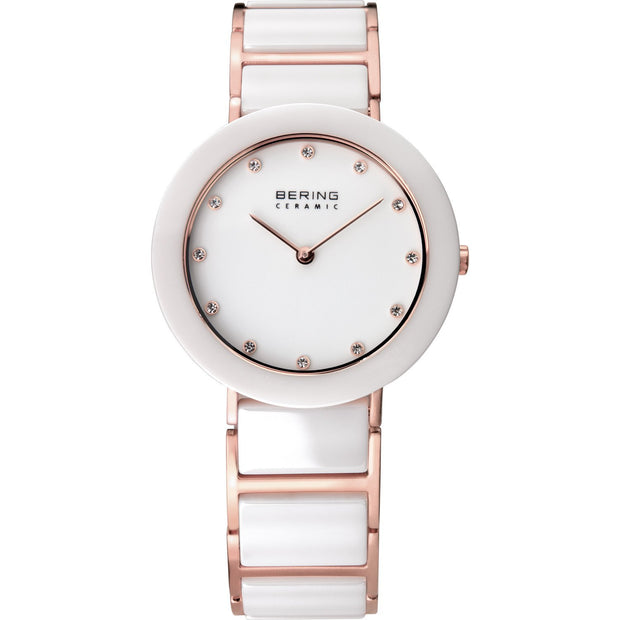 Bering Ceramic Rose Gold 29 mm Women's Watches 11429-766 - Bering