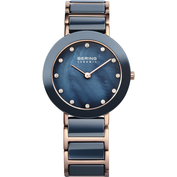 Bering Ceramic Rose Gold 29 mm Women's Watches 11429-767 - Bering