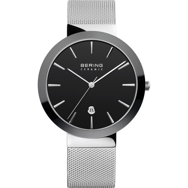 Bering Ceramic Silver 40 mm Women's Watches 11440-042 - Bering