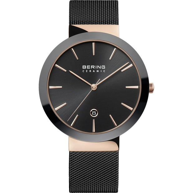 Bering Ceramic Rose Gold 40 mm Women's Watches 11440-166 - Bering