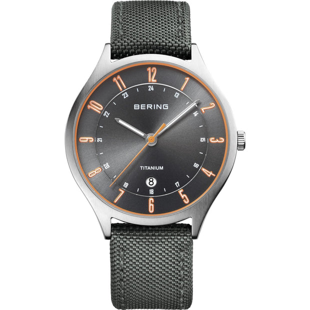 Bering Titanium Silver 39 mm Men's Watches 11739-879 - Bering