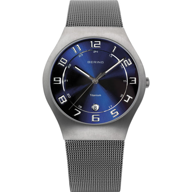 Bering Titanium Grey 37 mm Men's Watches 11937-078 - Bering