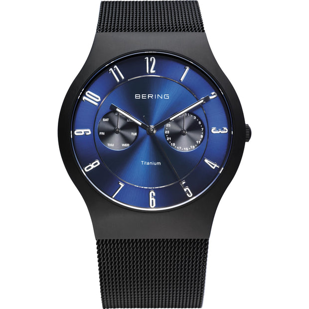 Bering Titanium Black 39 mm Men's Watches 11939-078 - Bering