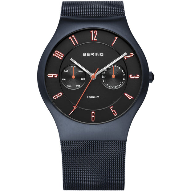 Bering Titanium Blue 39 mm Men's Watches 11939-393 - Bering