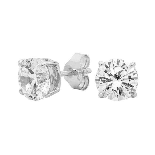 Georgini-Sterling Silver Cubic Zirconia Clear Stud Earrings-COCOMI Australia