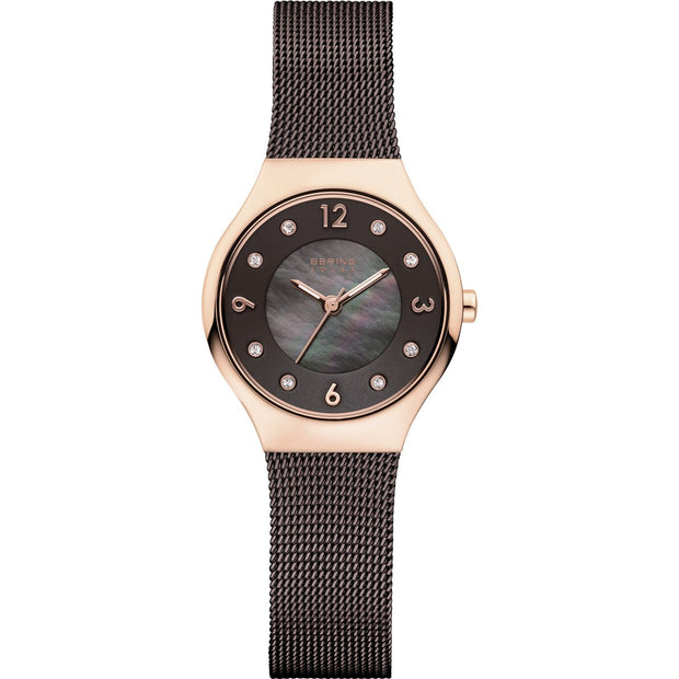 Bering Solar Rose Gold 27 mm Women's Watches 14427-265 - Bering