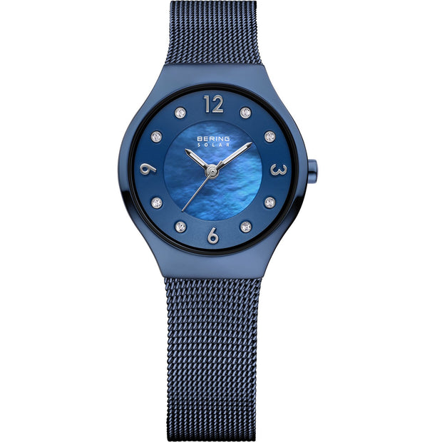 Bering Solar Blue 27 mm Women's Watches 14427-393 - Bering