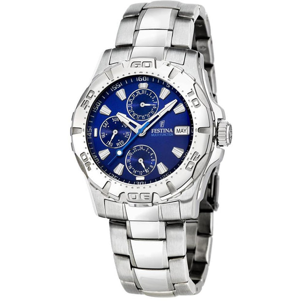 Festina Gents Multifunction Silver Bracelet Watch-COCOMI Australia