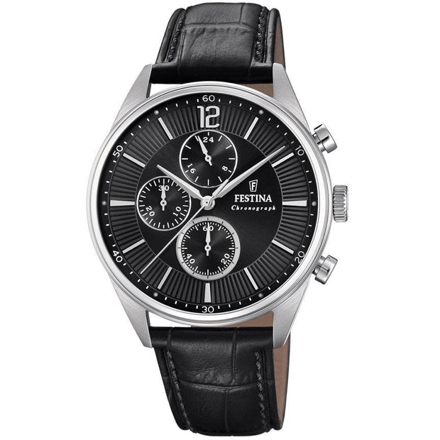Festina Timeless Chrono Black Watch-COCOMI Australia