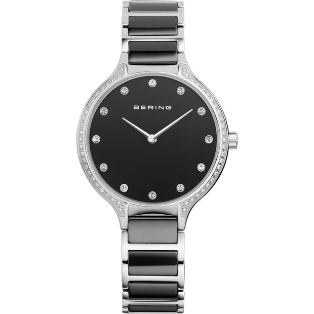 Bering Ceramic Silver 34 mm Women's Watches 30434-742 - Bering