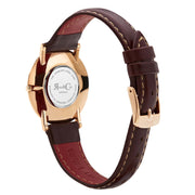 Mini Pinnacle Ultra Slim 34mm Rose Gold | Dark Brown | Blue Sunray Dial Watch-COCOMI Australia