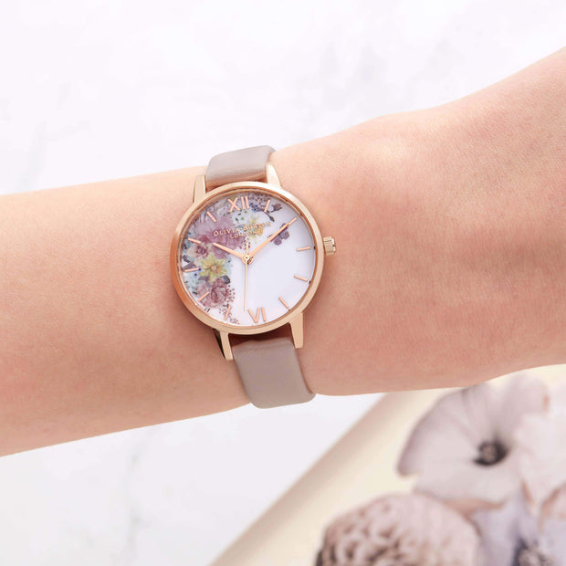 Enchanted Garden Vegan Rose Sand 30 mm Women's Watch-COCOMI