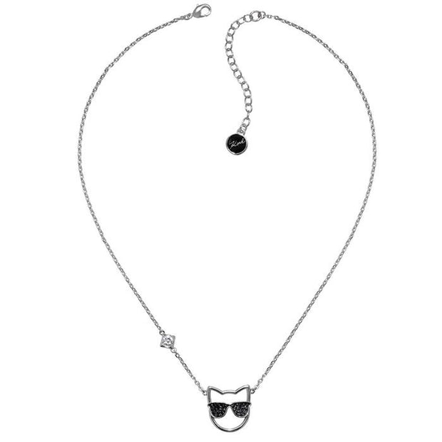 Karl Lagefeld Choupette Rhodium Women's Necklace (5378080)
