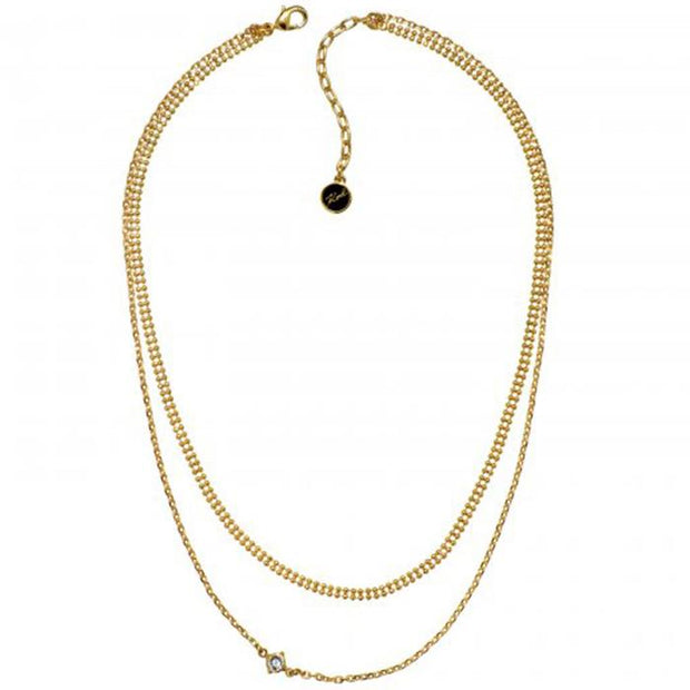 Karl Lagefeld Layered Mixed Chain Gold Women's Necklace (5378144)