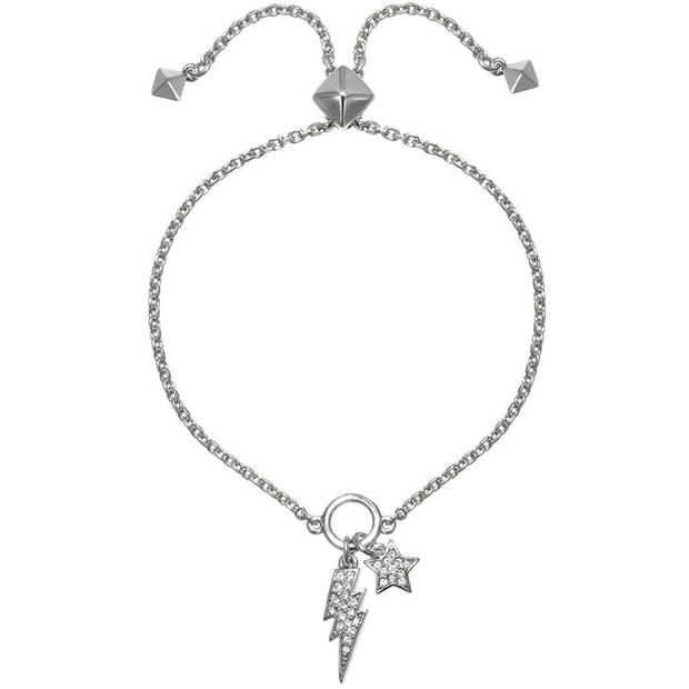 Karl Lagefeld Star & Lightning Slide  Rhodium Women's Bracelet (5378167)