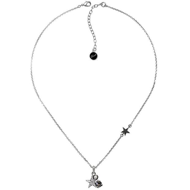 Karl Lagefeld Eiffel Tower CH  Gunmetal Women's Necklace (5378224)