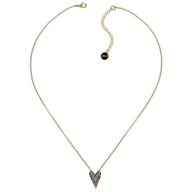 Karl Lagefeld  Pyramid  Rose Gold Women's Necklace (5420593)