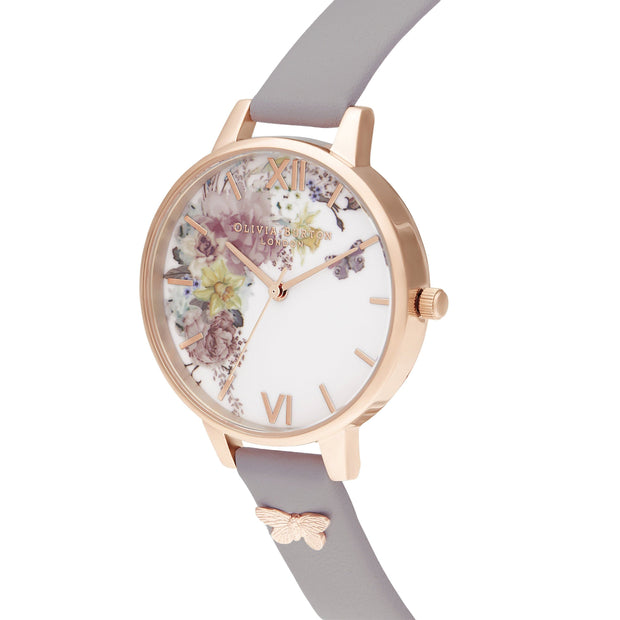 Olivia Burton Enchanted Garden Grey Lilac 34 mm Women's Watches OB16EG129-Olivia Burton-COCOMI Australia