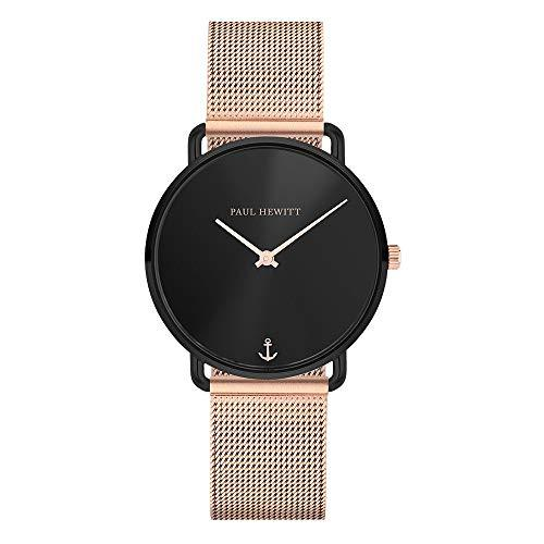 Paul Hewitt Miss Ocean Black Sunray RG Mesh Watch
