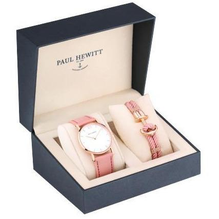 Paul Hewitt Perfect Match Gift Set (Sailor White Sand Watch and Pink Phrep Small)-COCOMI Australia