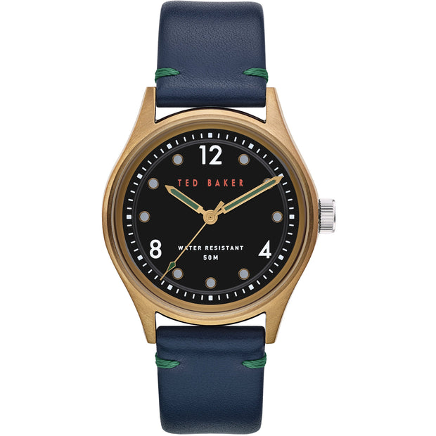 Ted Baker Manhatt Black Dial Brown Watch-COCOMI Australia