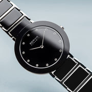Bering Ceramic Polished Silver Ceramic Bracelet Watch-COCOMI Australia