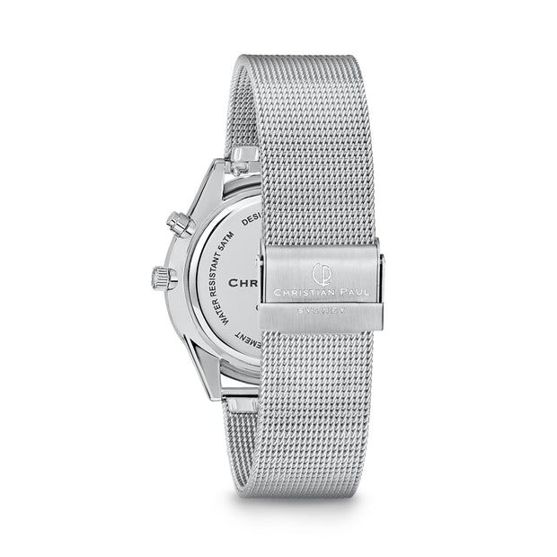 Christian Paul Hybrid Silver 40 mm  Unisex's Watches 181HBS4020 - Christian Paul
