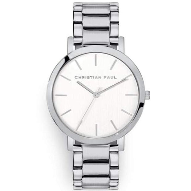 Christian Paul Crystal Eye Silver 43 mm Women's Watches CSS4324