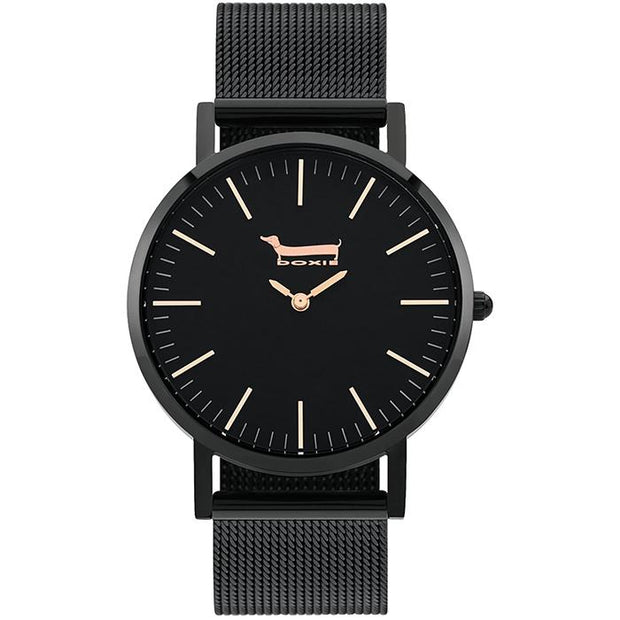 Doxie Buddy Black 40 mm Women's Watches DX0503 - Doxie
