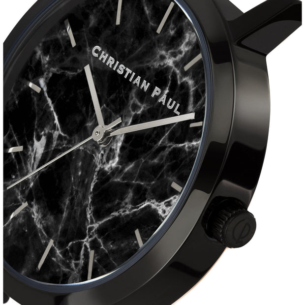 Christian Paul The Strand Black 35 mm Women's Watches MBB3501 - Christian Paul