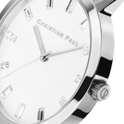 Christian Paul Crystal Silver 35 mm Women's Watches LWS3502 - Christian Paul