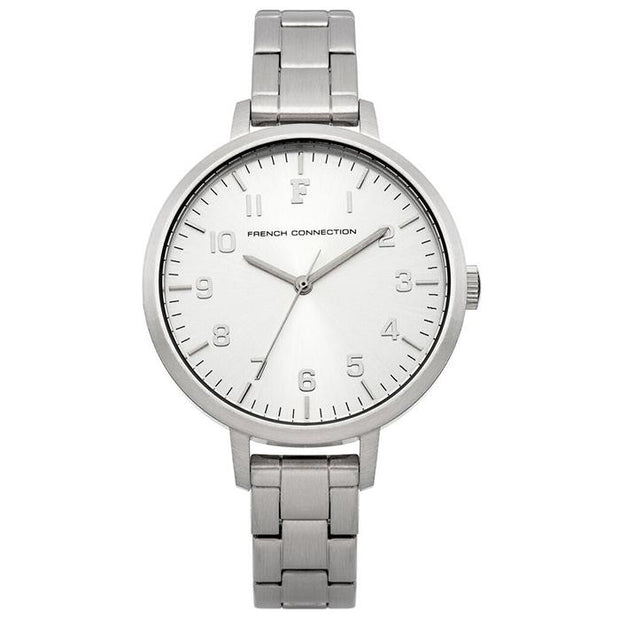 French Connection White Mesh 42mm Men's Watch (FC1223SMA)