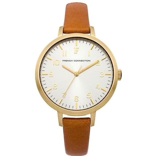 French Connection White Leather 36mm Women's Watch (FC1248TA)-COCOMI Australia