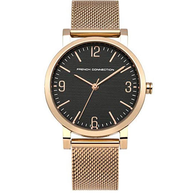 French Connection Black  Mesh  33mm Women's Watch (FC1249RGMA)