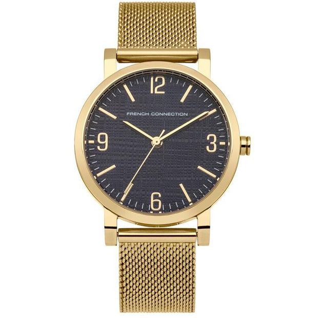 French Connection Blue Mesh 33mm Women's Watch (FC1249UGMA)-COCOMI Australia
