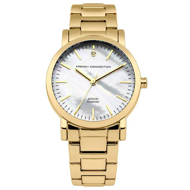 French Connection Pearl  Stainless Steel 34mm Women's Watch (FC1250GM)