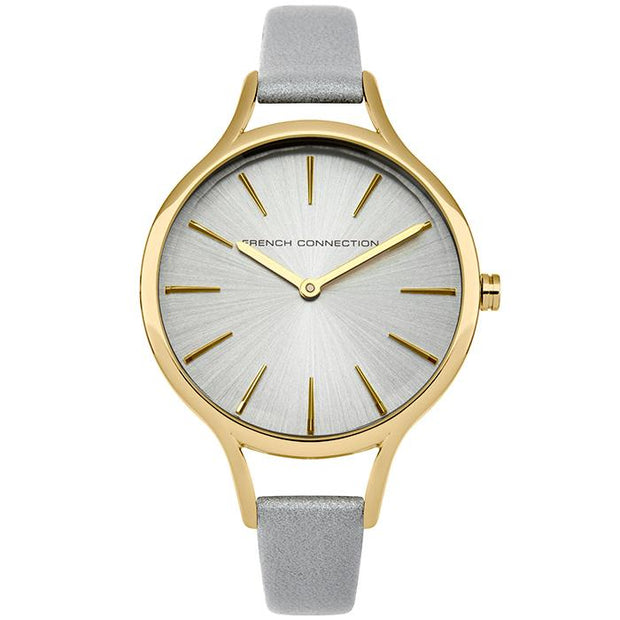 French Connection Grey Leather 32mm Women's Watch (FC1253EG)-COCOMI Australia