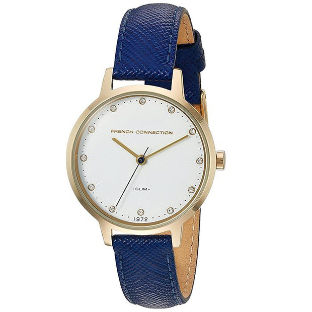 French Connection White  Leather  30mm Women's Watch (FC1254UG)