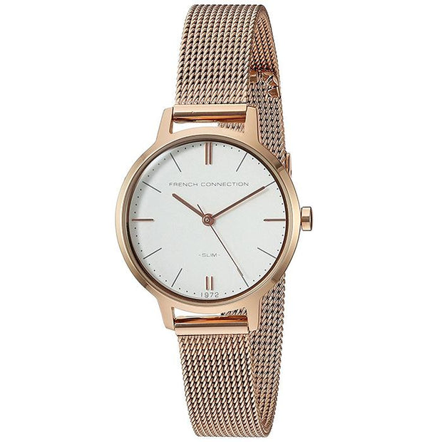 French Connection Leather  Brown  30mm Women's Watch (FC1255RGM)