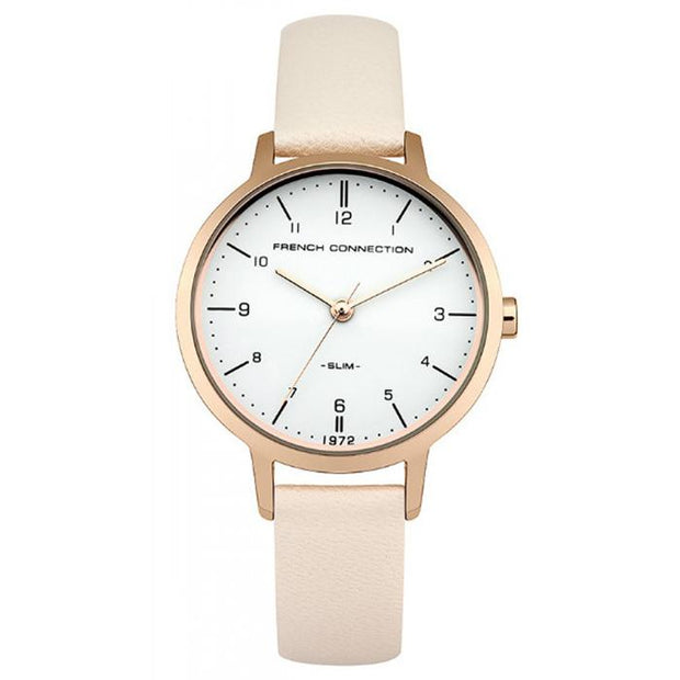 French Connection Leather  Black  30mm Women's Watch (FC1256CRG)