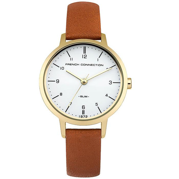 French Connection Leather  Black  30mm Women's Watch (FC1256TG)
