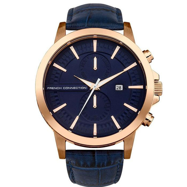 French Connection Mesh Rose Gold 45mm Men's Watch (FC1270URGA)-COCOMI Australia