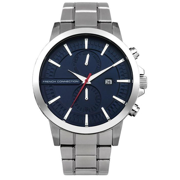 French Connection Leather  Black  40mm Men's Watch (FC1270USMA)