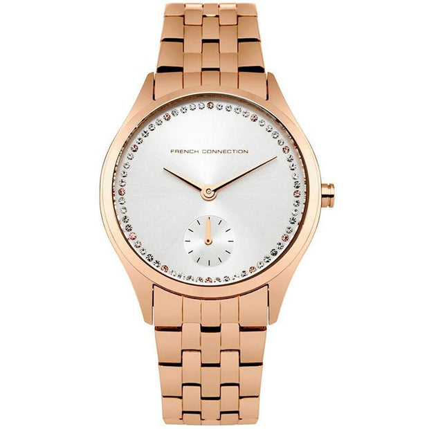 French Connection Metal Bracelet Gold 35mm Women's Watch (FC1272RGM)-COCOMI Australia